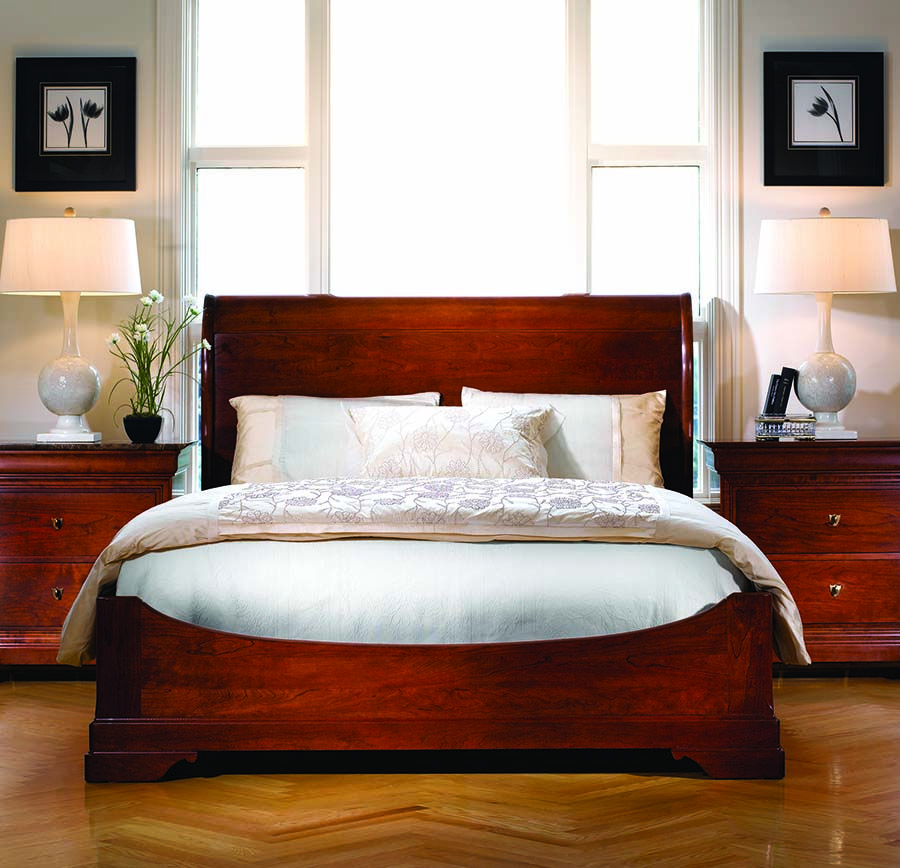 Awesome Stickley Furniture La Rochelle Sleigh Bed, Crafted Of Solid Cherry, Made In  USA