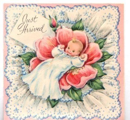 Sweet vintage birth announcement – Vintage Birth Announcement