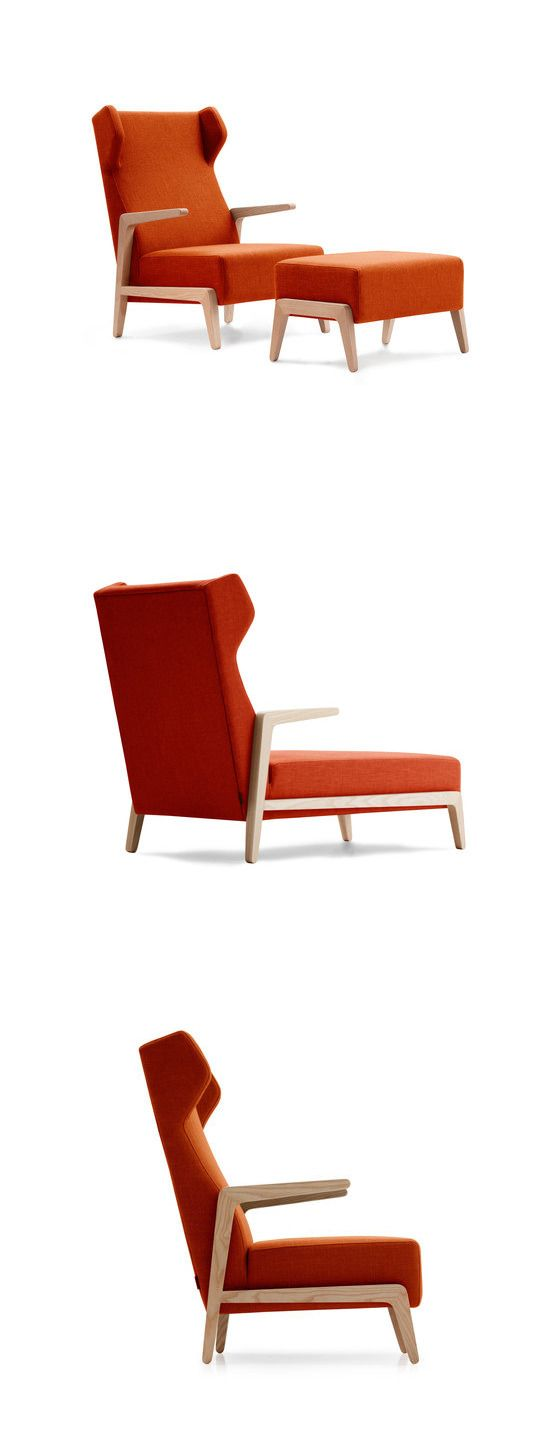 Quim Larrea & Associates Boomerang Chill Armchair With Pouf