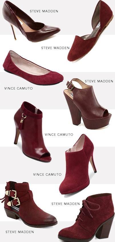 color! #shoes #merlot #red