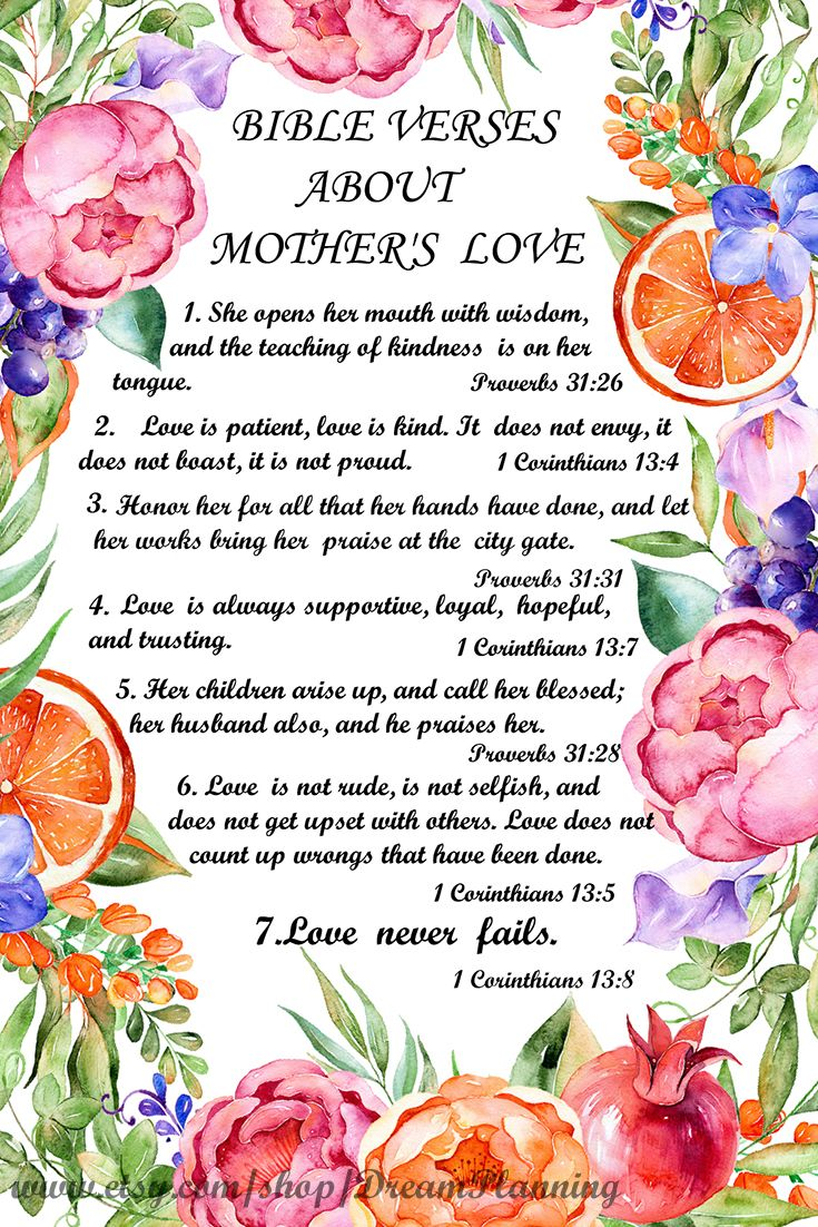 Pin On Mother Day Bible Verses
