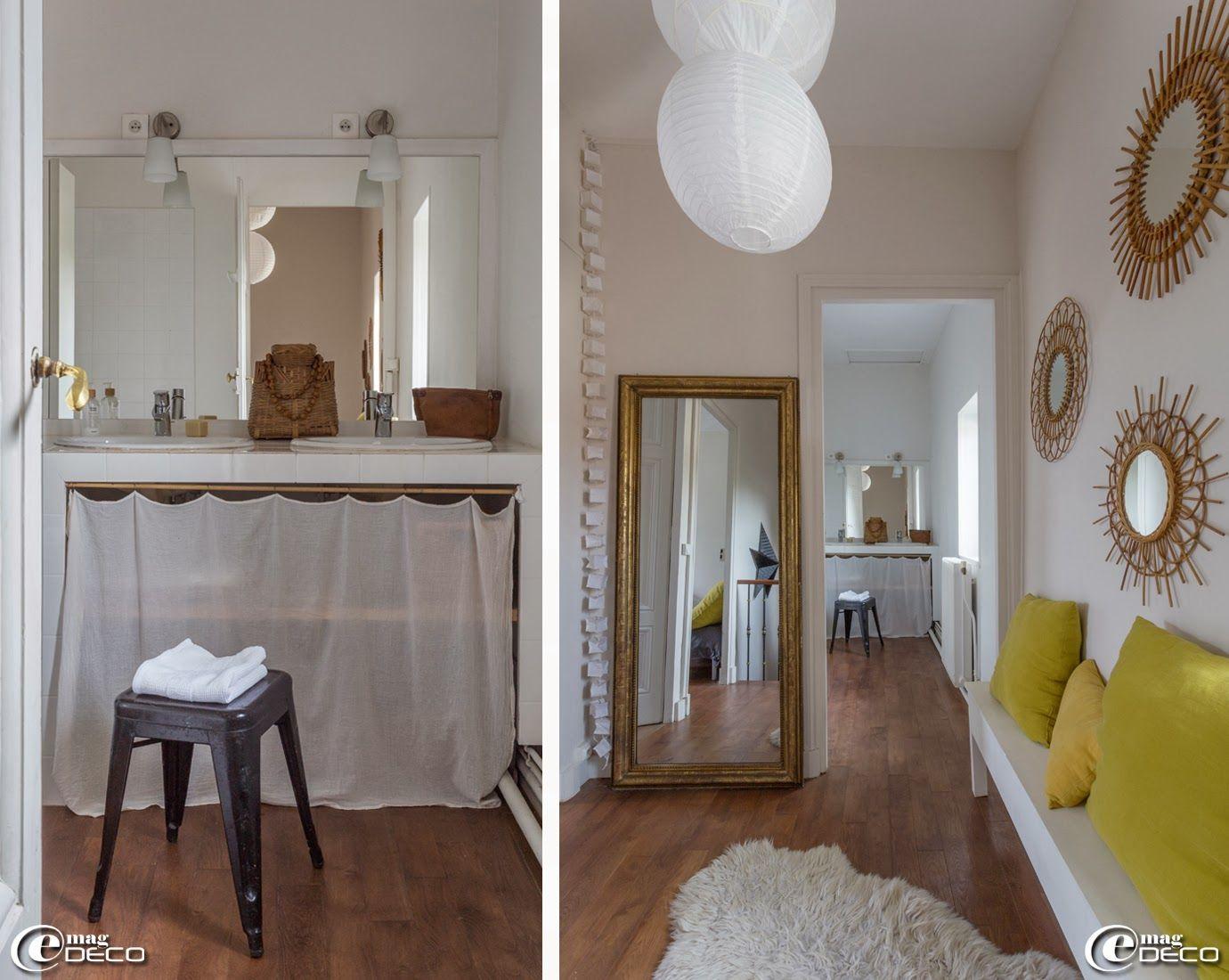 dans une salle de bains tabouret tolix appliques 39 ikea 39 guirlande lumineuse cubiste 39 ts. Black Bedroom Furniture Sets. Home Design Ideas