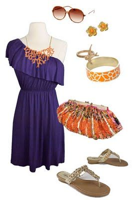 Coral me Orange and Purple