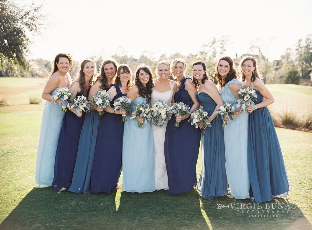 mismatched-blue-bridesmaid-dresses1 | Wedding Ideas | Pinterest ...
