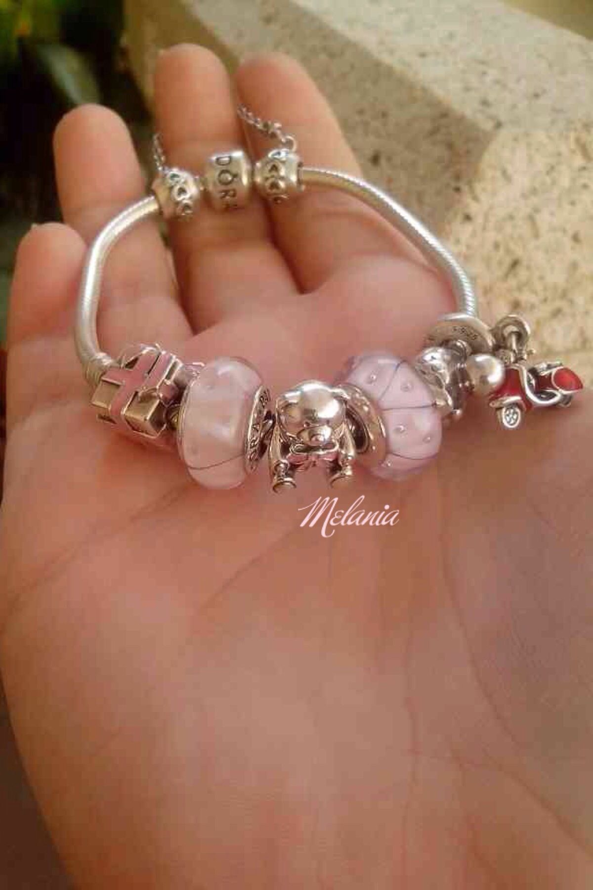 a1068505a Pandora pink bracelet bear gift birth baby girl Vos Pandora Vos créations  Your creation Des bracelets