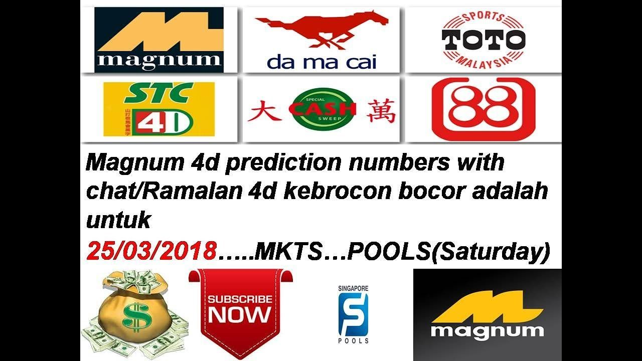 25/03/2018 Magnum 4d prediction numbers with chat 100
