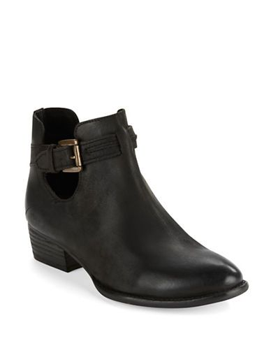 Tourmaline Leather Booties | Lord and Taylor