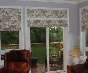 Cool Relaxed Roman Shades Sliding Glass Doors Idea Someday House