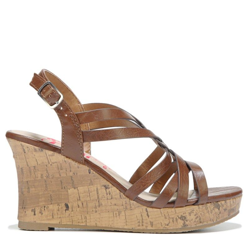 Jellypop Women's Poppins Wedge Sandals (Tan) ...