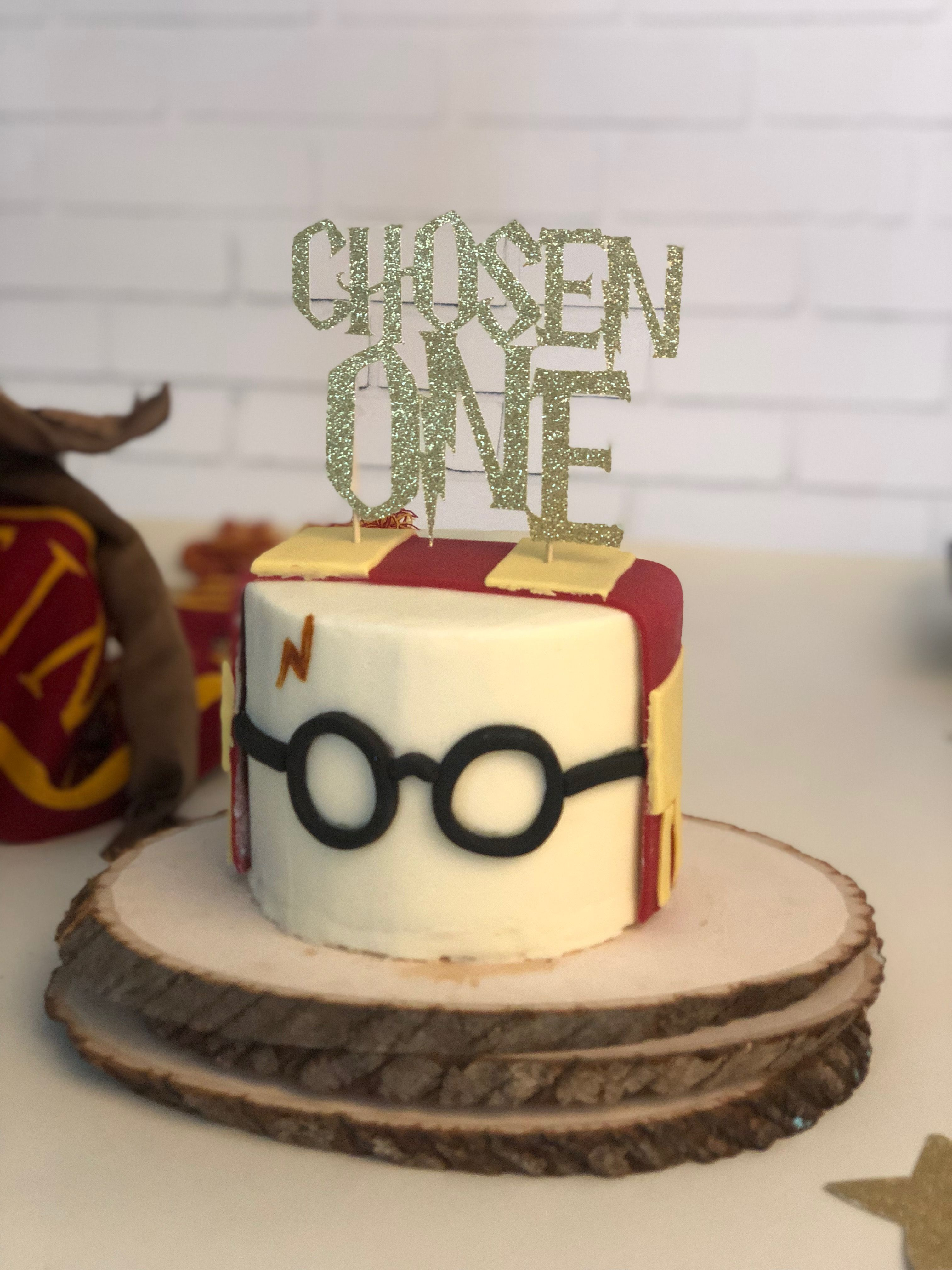Harry Potter Smash Cake theme for one year old birthday