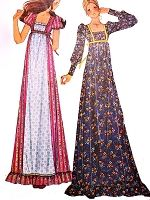 1970s BOHO CHIC Maxi Dress Pattern McCALLS 3898 Bohemian Party Dress Empire Waist Babydoll Prairie Cosplay Renaissance Bust 34 Vintage Sewing Pattern UNCUT