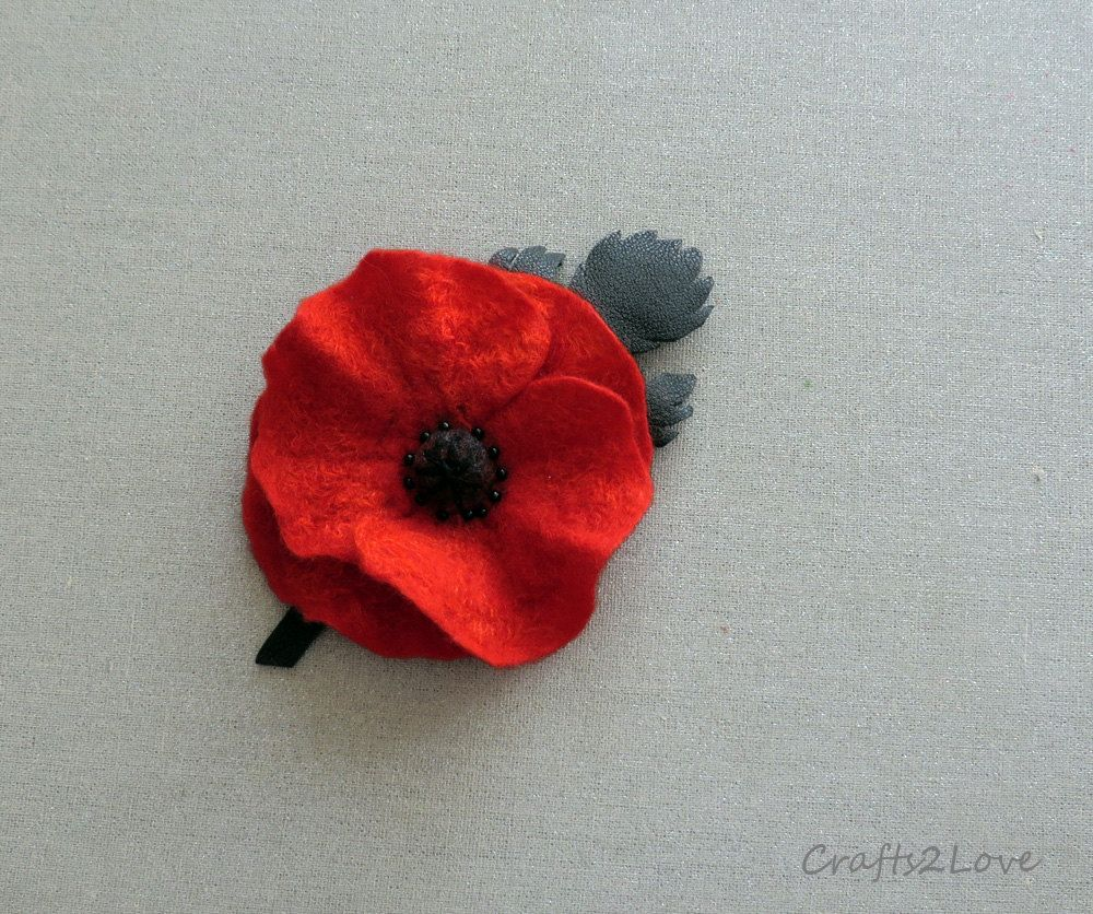 Reserved Red Poppy Pin Remembrance Poppy Lapel Pin Small Felted