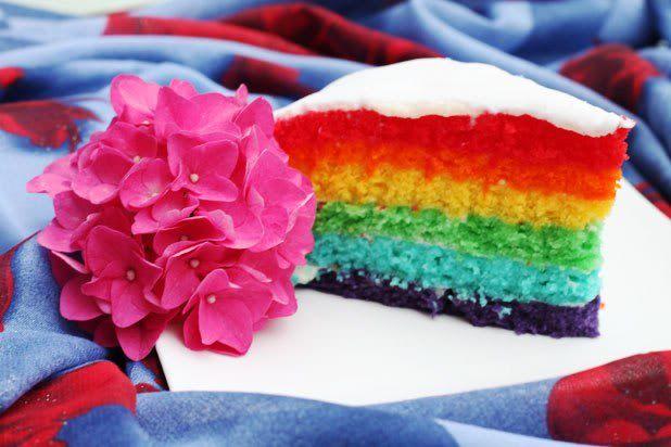 Rainbow cake recept nu