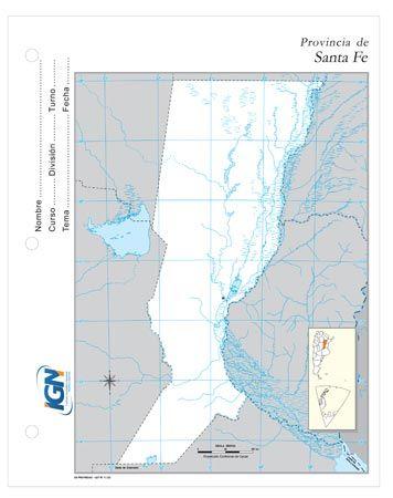 Mapa Escolar de la Provincia de Santa Fe | Cosas para el Cole ...