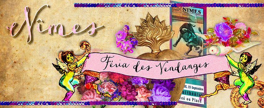 Bannière au couleur de l'affiche http://www.torildartistes.com/store/#!/2015-Féria-de-Nîmes/p/39426856/category=0