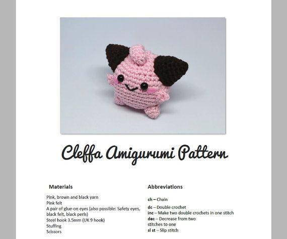 Cleffa Amigurumi Crochet Pattern inspired by par LuckyPacaDesigns
