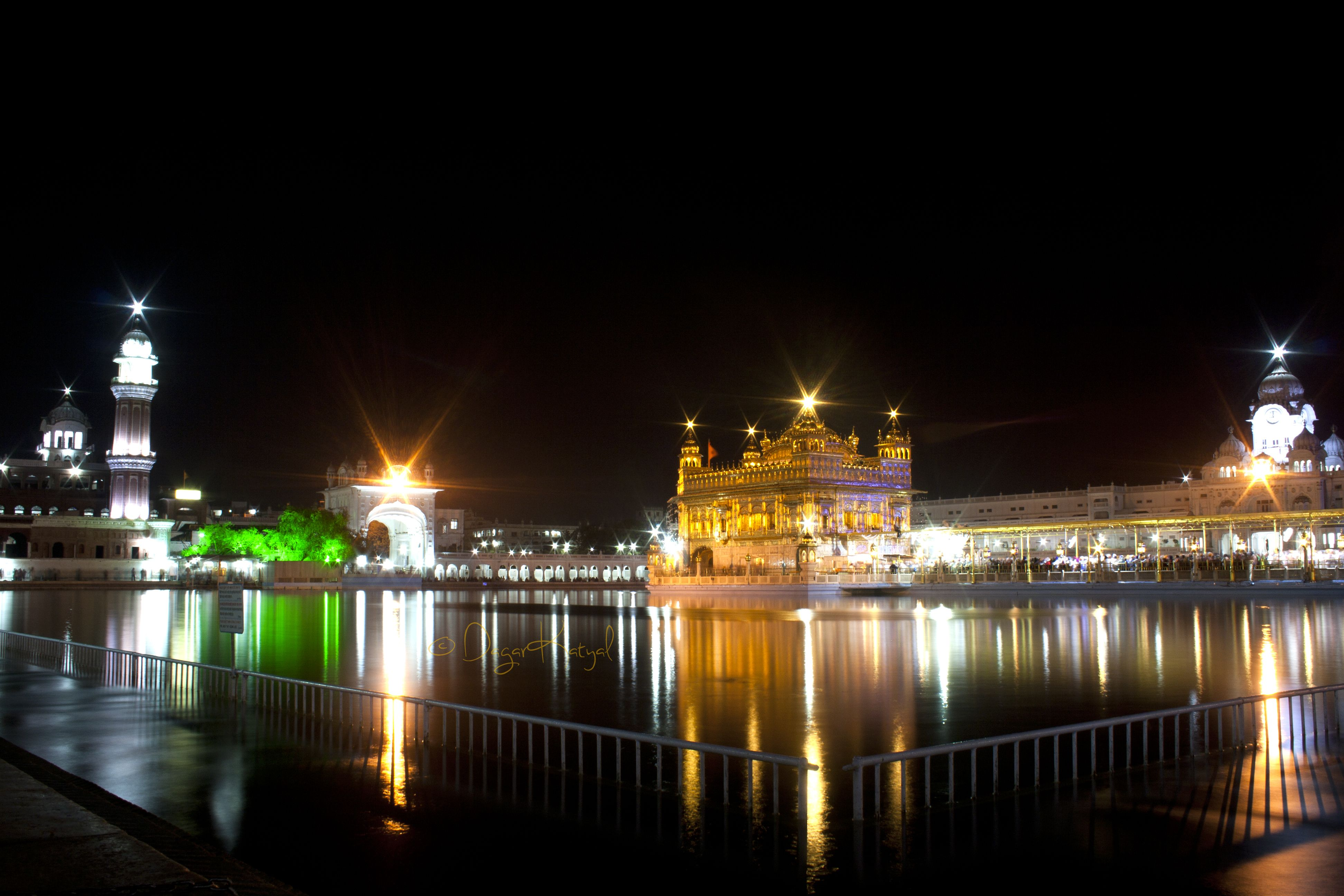 Wide angle View of Golden Temple