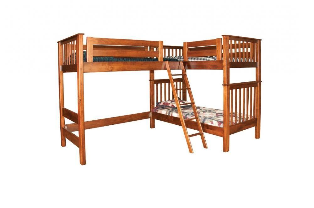 l shaped loft jake 39 s amish furniture lb7482 l shaped bunk bed bunk bed ideas pinterest. Black Bedroom Furniture Sets. Home Design Ideas