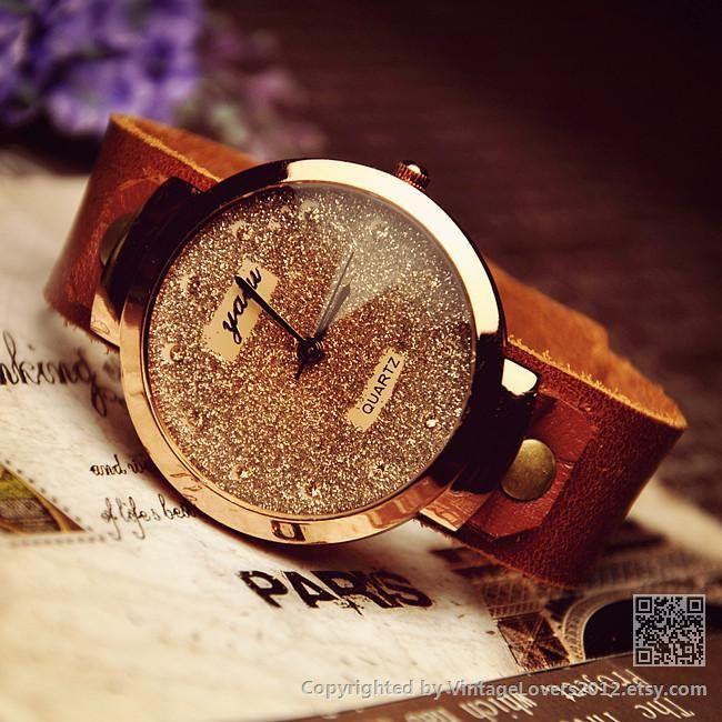 Women's Leather Wrist  Watch WAT0031 by VintageLovers
