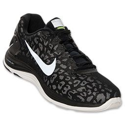 Men's Nike Lunarglide+ 5 Shield Black White Volt Sneakers : Z87w2256