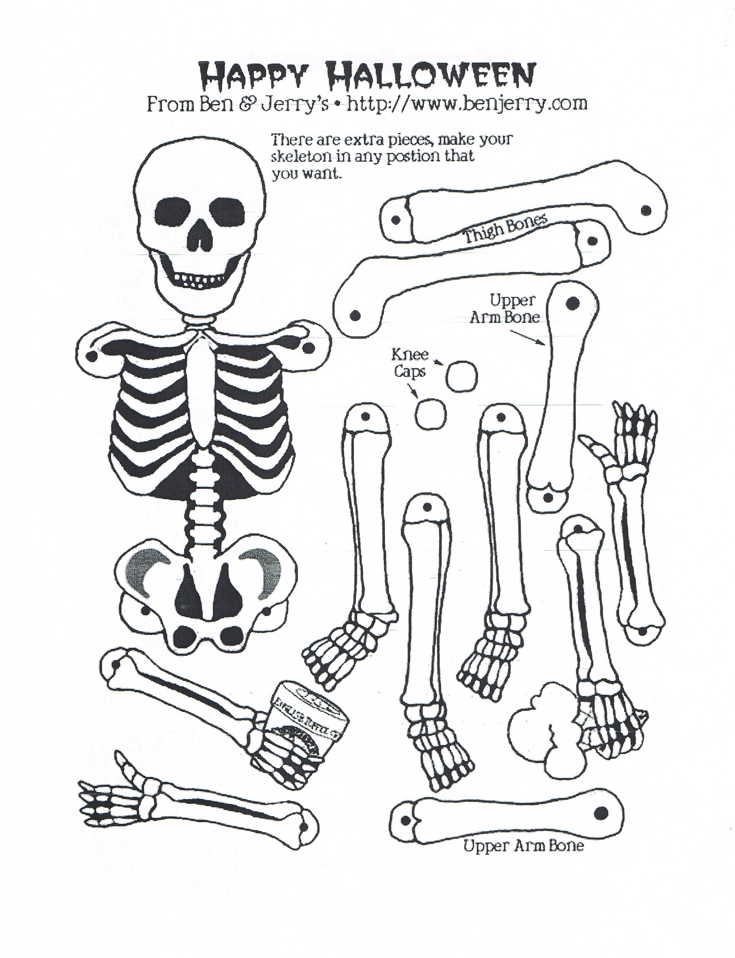 Skeleton Pattern Skeleton Craft Coloring Pages Cool Coloring Pages [ 3229 x 2479 Pixel ]