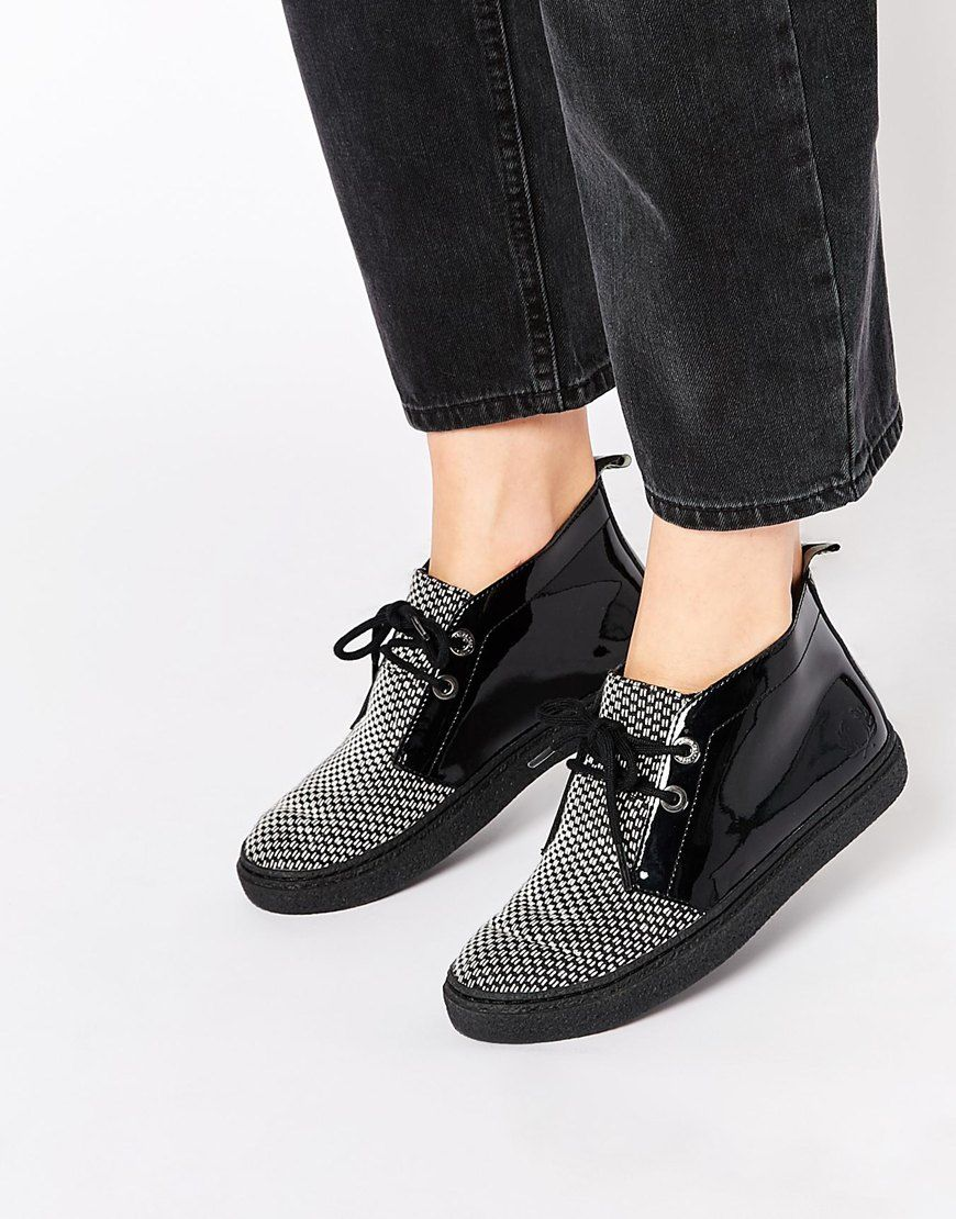 Buy Women Shoes / Fred Perry Henrietta Checkerboard Mid Ankle Boots