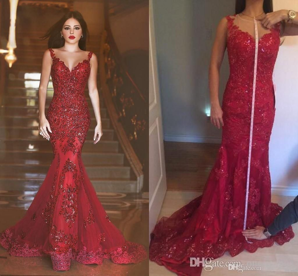 45d12a1469 Arabic 2016 New Cheap Real Image Evening Prom Dresses Said Mhamad Sheer  Back Mermaid Long Pageant
