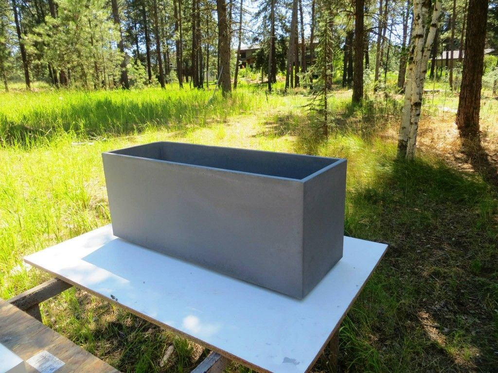 Planter Rectangular Concrete Planters Planters Concrete Planter Boxes