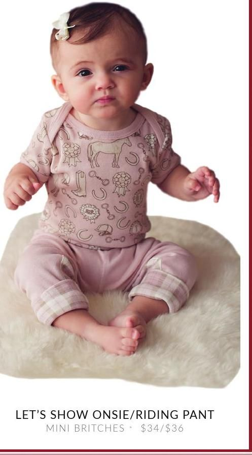Mini Britches Onsie with Riding Pants #ClippedOnIssuu from 2014 Horse & Style Holiday Guide to Equestrian Style