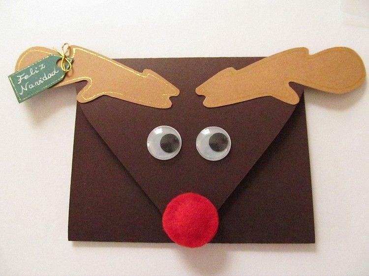 Wunderbar Briefumschlag Basteln Verzieren Weihnachten Kinder Idee #christmascard #diy  #weihnachtskarten #basteln