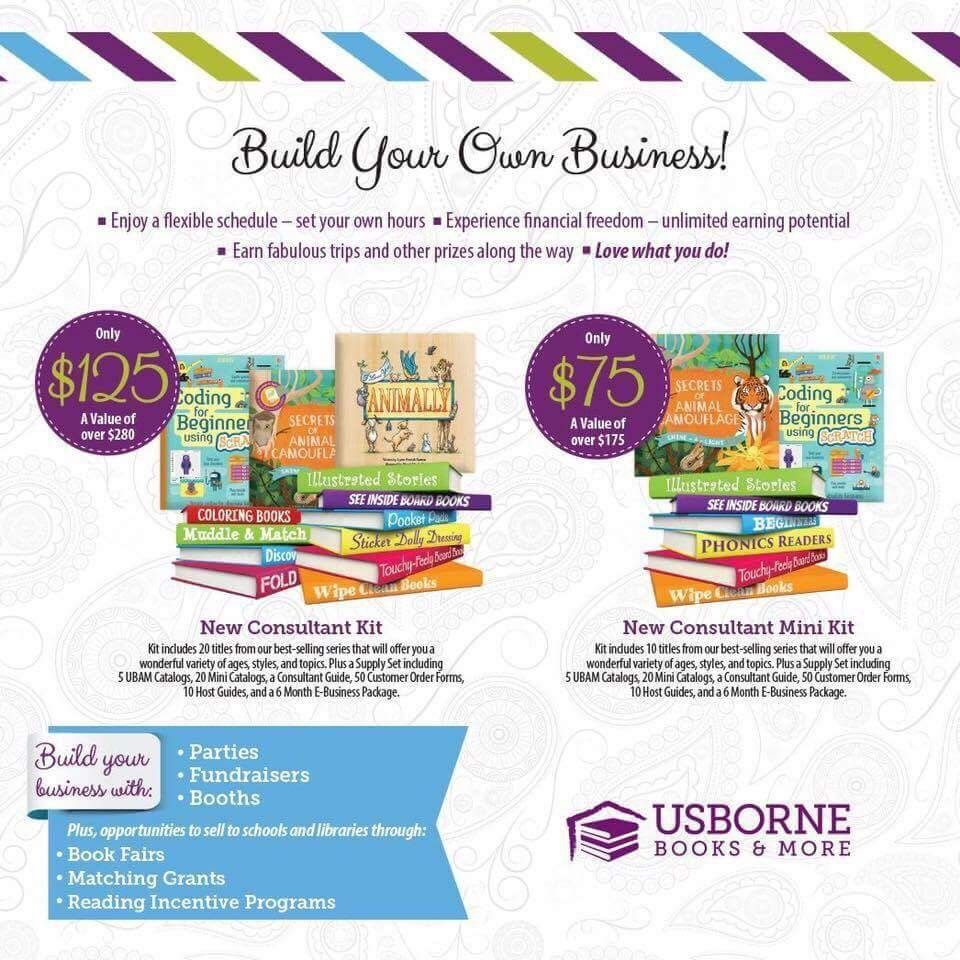 Usborne independent consultant starter kits (With images