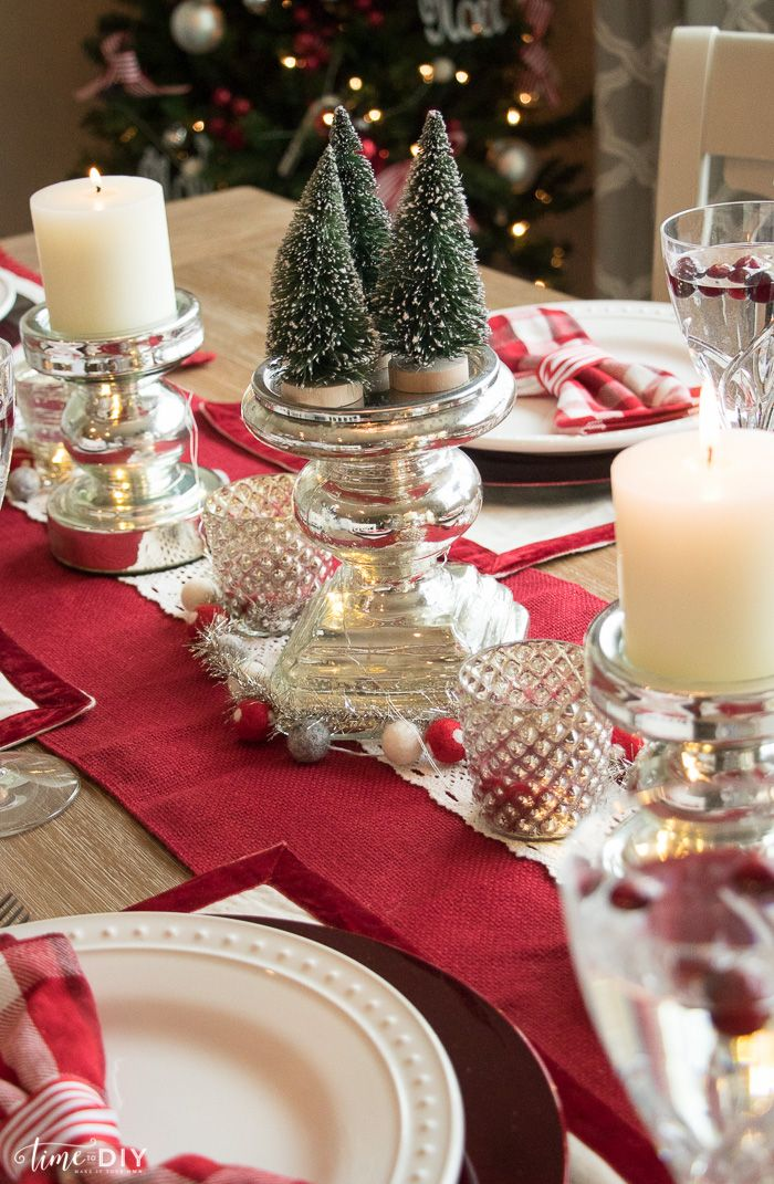 Christmas Tablescape Home Decor Ideas Pinterest