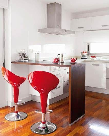 Beneficios de las barras americanas en la cocina #decoraciondecocina - barras de cocina