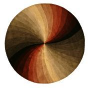 Hand-tufted Round Swirl Wool Rug (4' Round) | reviews say it sheds a lot, but i love the color palette