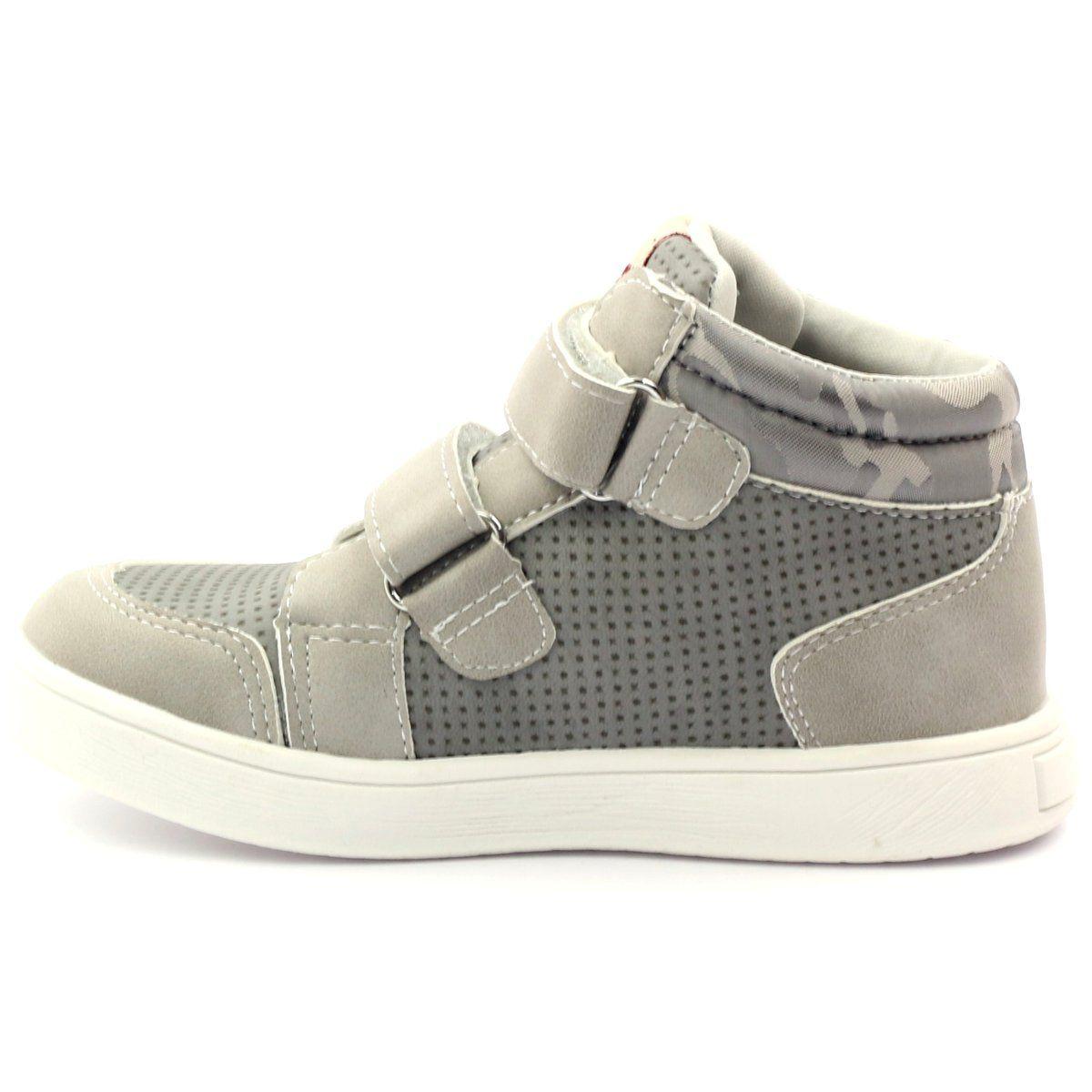 American Club Trzewiki Trampki Sportowe American 17353 Wielokolorowe Szare Kids Shoes Shoes Wedge Sneaker