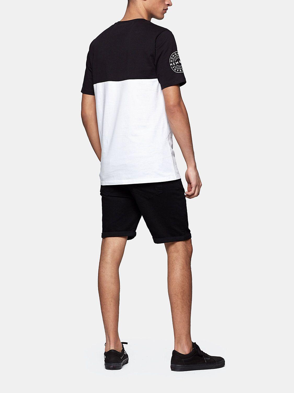 tekst print t-shirt zwart