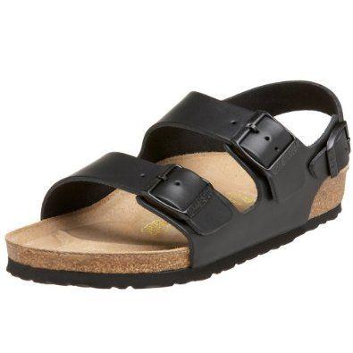birkenstock milano black sandals