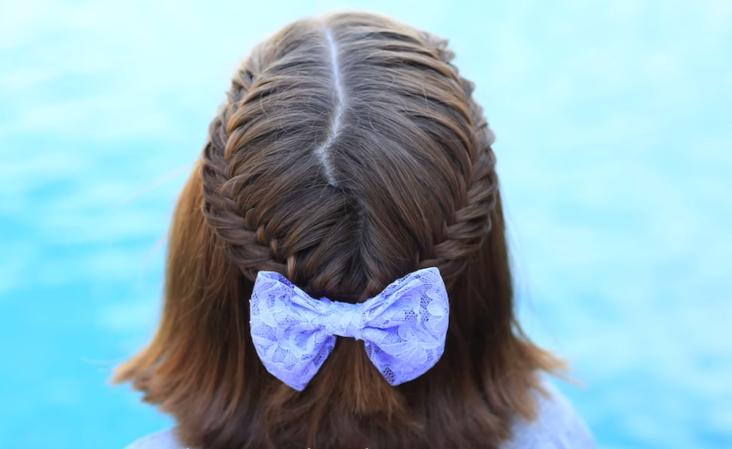 Trenzas de pelo corto para nina