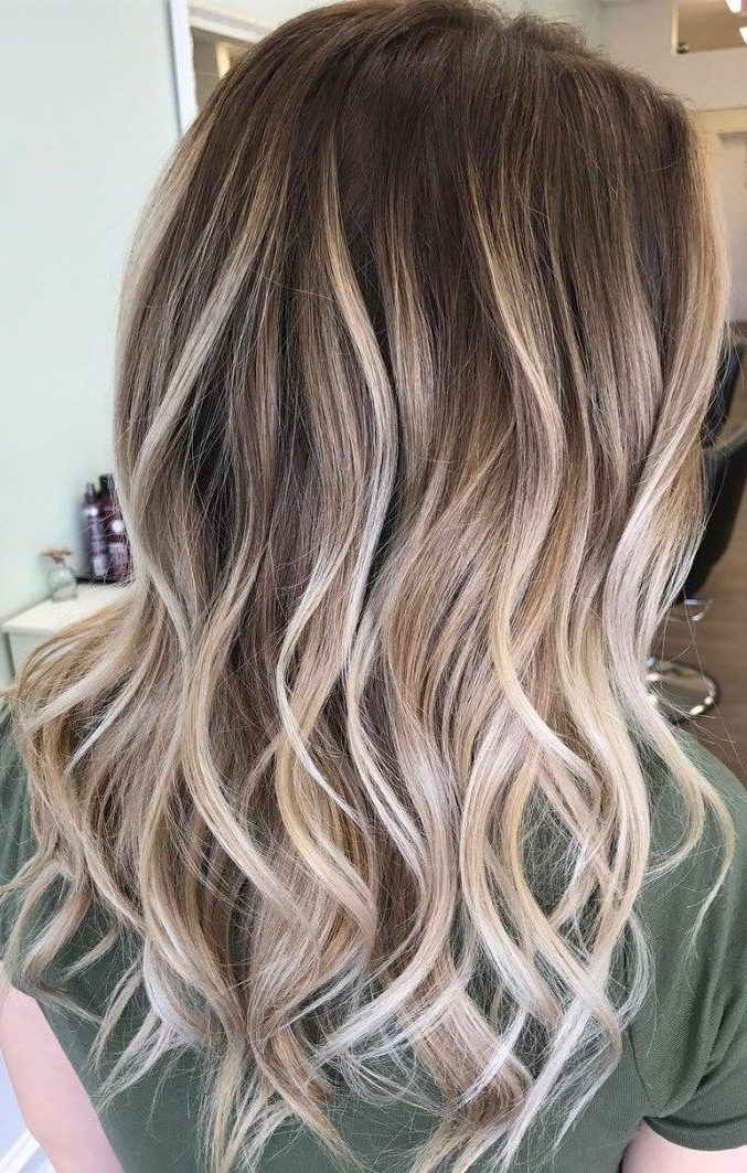 48 Beautiful Platinum Blonde Balayages for Summer 2019 #platinumblondehighlights