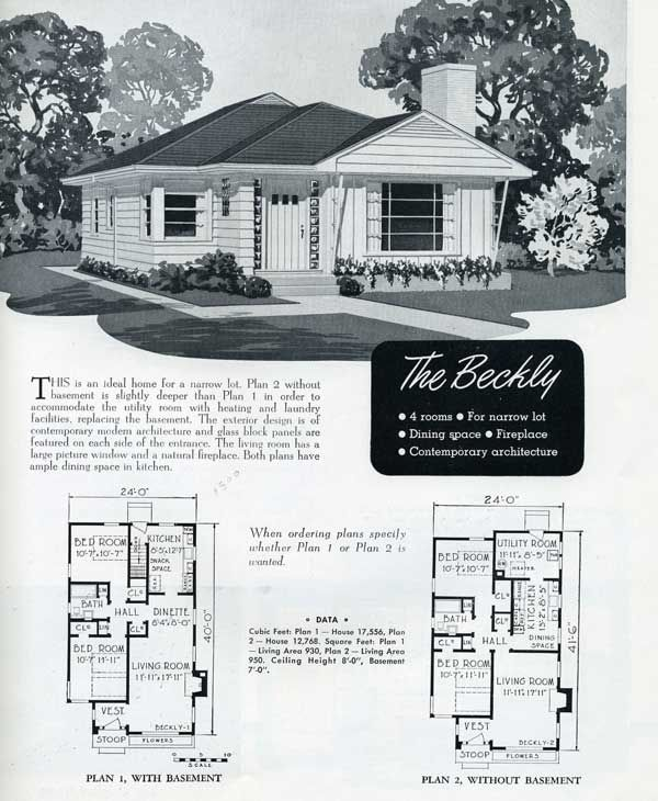 1949 national homes the beckly vintage house plans 1940s house plans vintage house plans. Black Bedroom Furniture Sets. Home Design Ideas