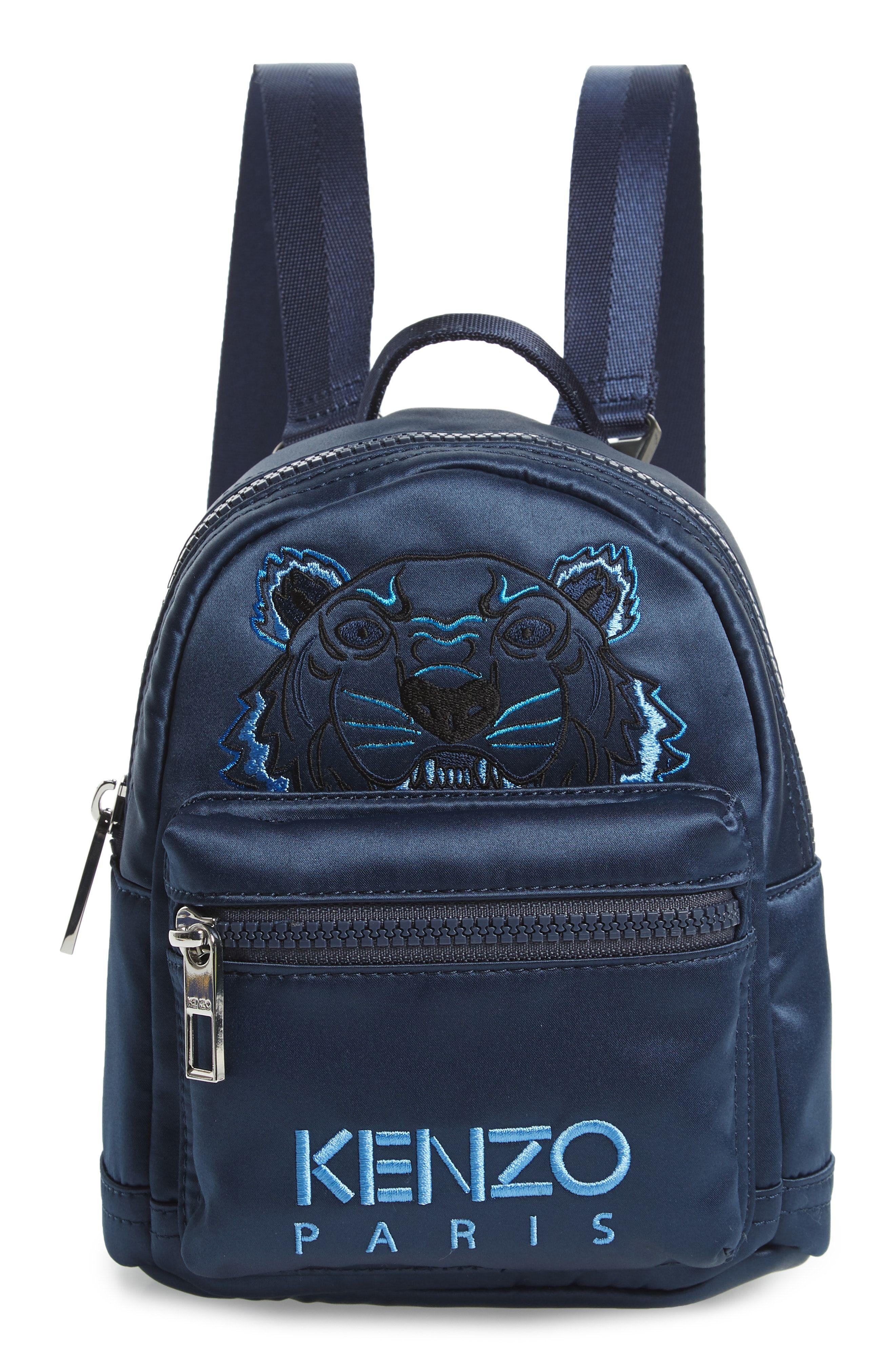 44701daf41 KENZO EMBROIDERED TIGER MINI BACKPACK - BLUE.  kenzo  bags  backpacks