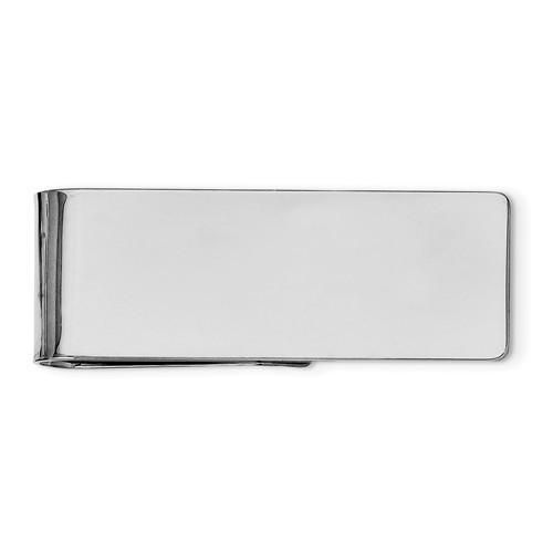 Money Clip Polished Sterling Silver Engravable Made in the USA