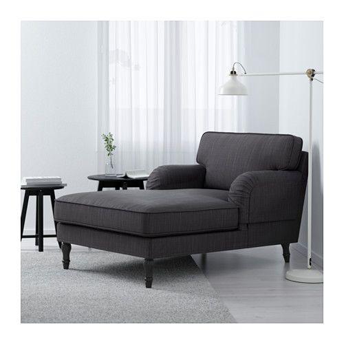 STOCKSUND Chaise Longue   Nolhaga Donkergrijs, Zwart   IKEA | Woonkamer |  Pinterest | Wohnzimmer, Raum Und Wohnideen