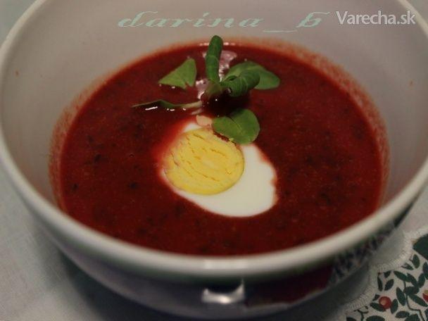 Krémová polievka z mrkvy, cvikle a tekvice (fotorecept)