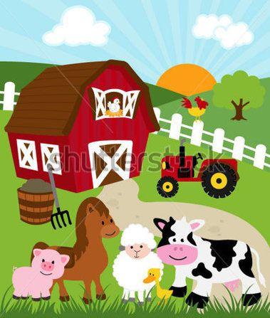 Ilustraciones Establo Niños Buscar Con Google Animales