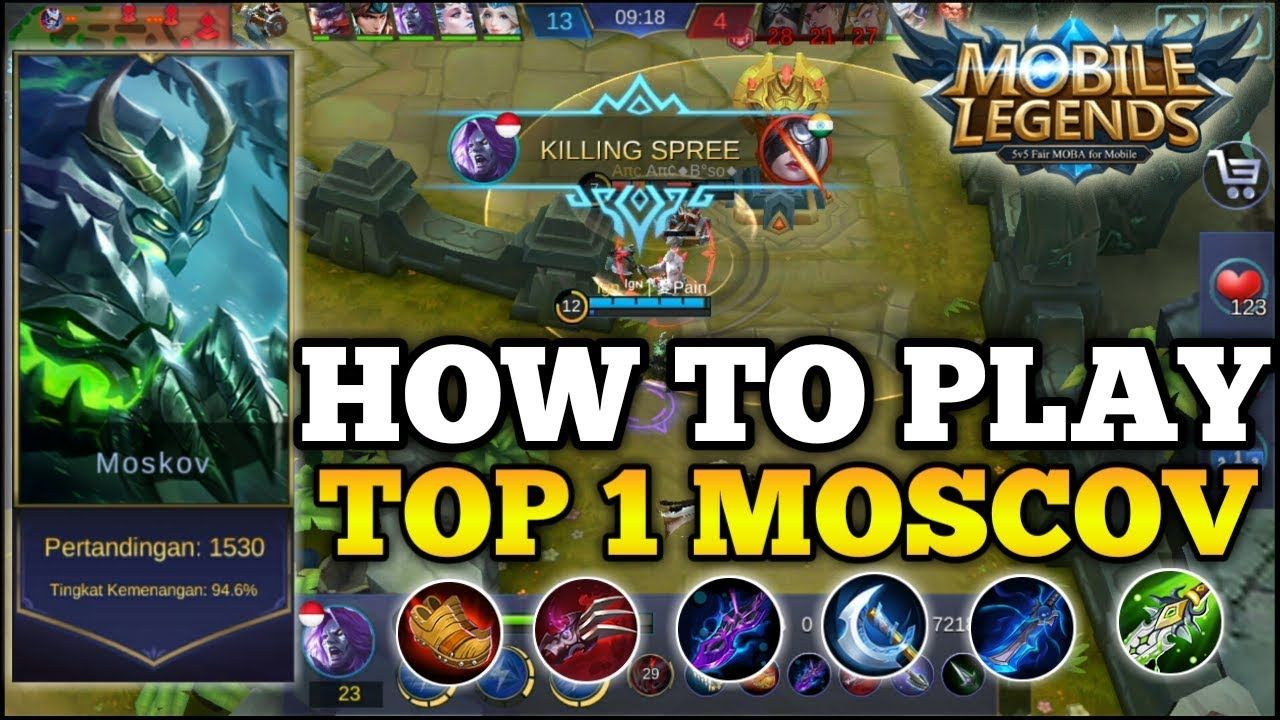 How To Play Moscov By Top 1 Moscov Mobile Legends 2018