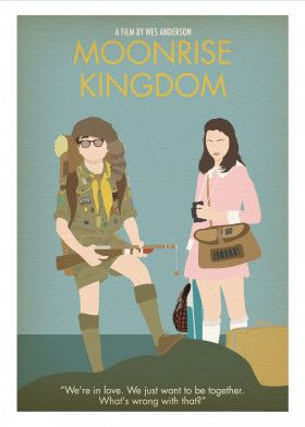 Wes Anderson Minimalist Posters by Posternitty Prints