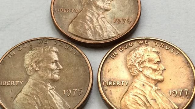 7300$$$ Rare 1975  1977  1978 Lincoln Penny No Mint Marks One Cent