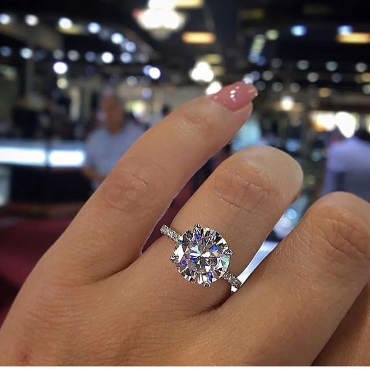 Pinterest Nadjaaa Wedding Rings Simple Round Engagement