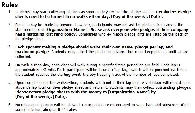 fundraiser pledge sheets google search cdg going the distance